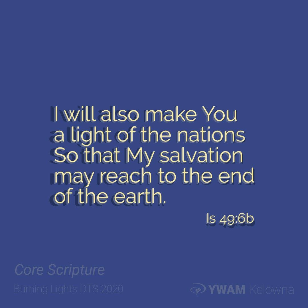The Light of men filled Christ, creating light, and destroying darkness whenever He spoke. The war of Light vs dark continues in us. He will make you the light of the nations if you let Him. Ask Him how. . . . .