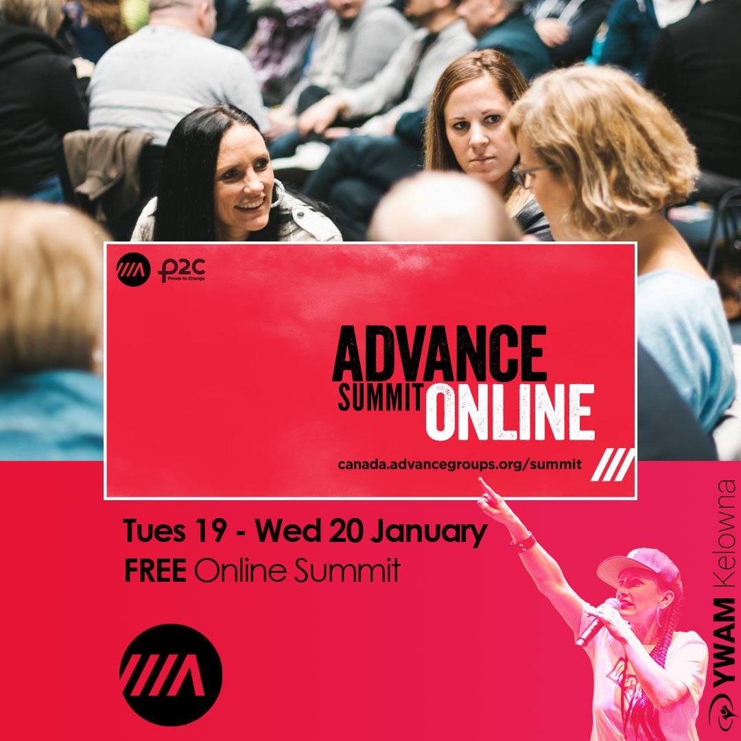 Hey all, join us for 2 days online at this FREE Advance Summit - We love this organization because of how it equips and empowers believers to share the gospel.  We'll hear from an excellent line up of internationally renowned evangelists including: Andrew Palau, Wendy Palau, Shaila Visser, Andy Hawthorne, Becky Pippert, Rod Bergen, Ben Jack, Bill Hogg, Alan Hirsch, Anthony Greco, Wes Mills, Daniel Yang, Donna Mitchell, Dave Koop and Dave Klassen.  Register Today:  https://canada.advancegroups.org/summit/ @discipleacity @ywammendocinocoast  @ywamniagara @ywamnanaimo  @ywamvancouver  . . .