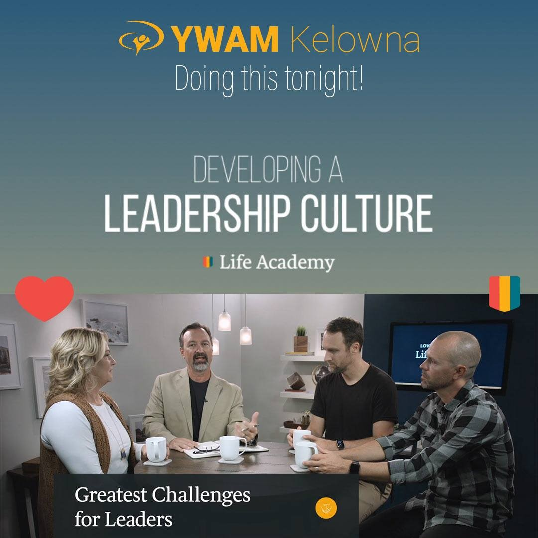 We can't say enough about @lovingonpurpose Life Academy and this Developing a Leadership Culture course. So good. Developing powerful leaders, famous for love, one day at a time. Thank you @dannylovingonpurpose @sheri_silk @thebanning and @asazcurry for your wisdom, example and life. . . . .  www.ywamkelowna.org